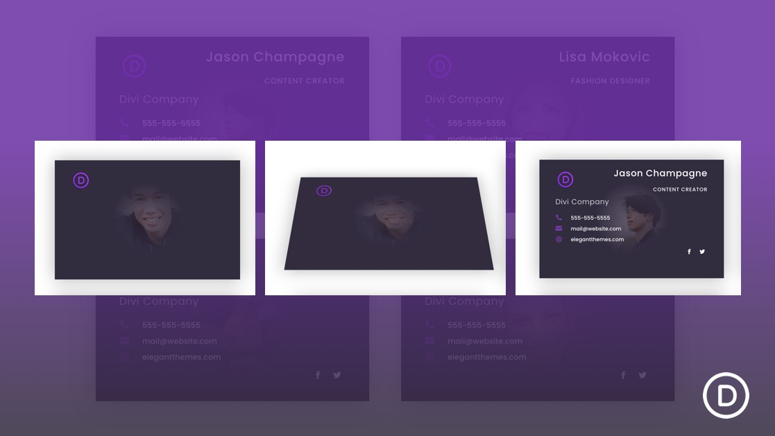 Business Cards with Flip Animation on Click