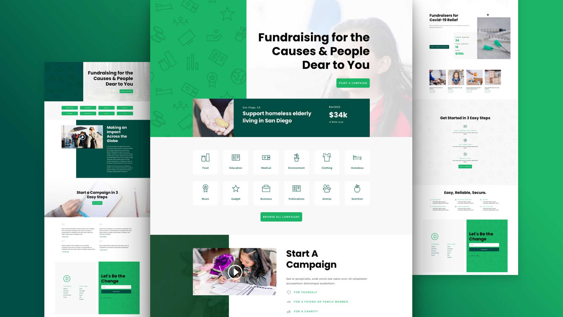 Crowdfunding Layout Pack