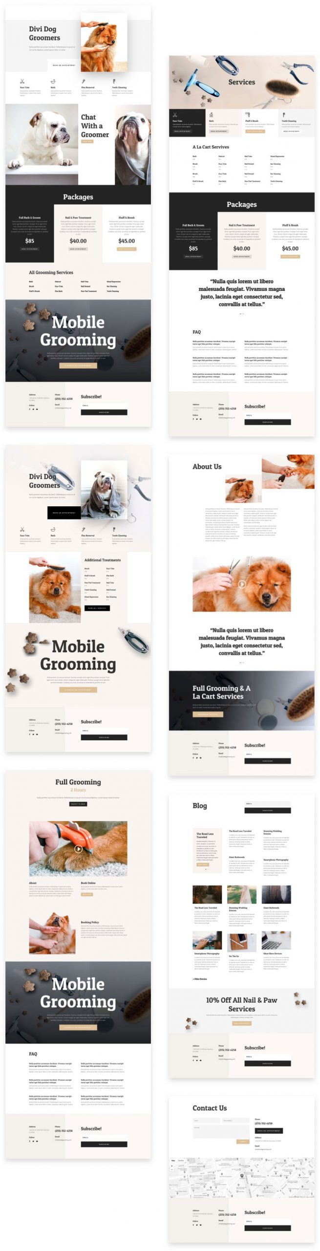 Dog Grooming Layout Pack