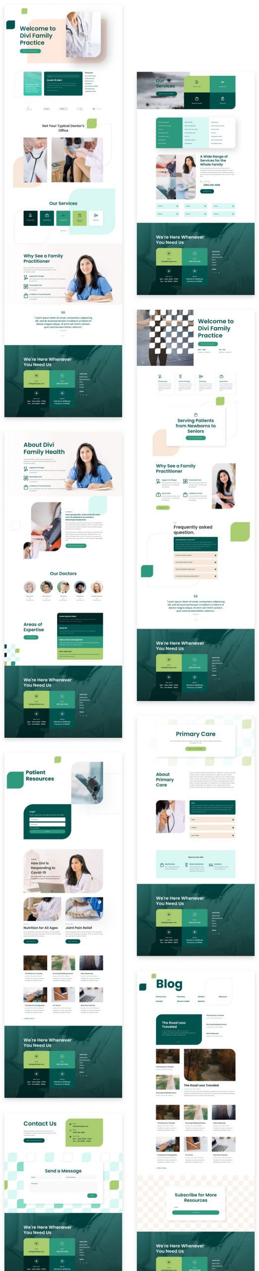 Family Doctor Layout Pack