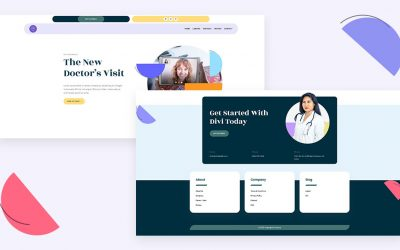 Header & Footer for Telehealth Layout Pack